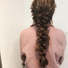 フェミニン ブライダル ロング ヘアセット ヘアスタイルや髪型の写真・画像