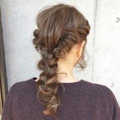 外国人風 ハイライト ロング 簡単ヘアアレンジ ヘアスタイルや髪型の写真・画像