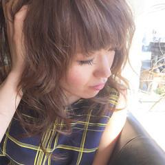 小顔 フェミニン ボブ アッシュ ヘアスタイルや髪型の写真・画像