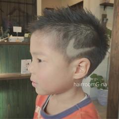 子供 ショート ストリート ヘアスタイルや髪型の写真・画像
