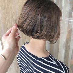 モテボブ インナーカラー ショートボブ まとまるボブ ヘアスタイルや髪型の写真・画像