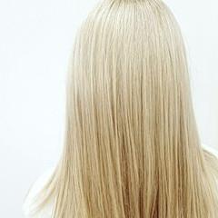セミロング ハイライト ダブルカラー ハイトーン ヘアスタイルや髪型の写真・画像