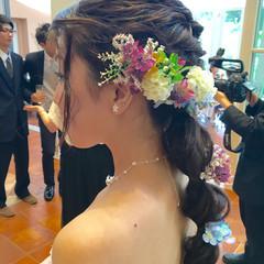 ヘアアレンジ ドレス ヘアアクセ 結婚式 ヘアスタイルや髪型の写真・画像