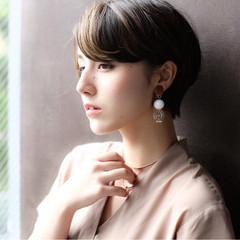 秋 ベリーショート 透明感 ショート ヘアスタイルや髪型の写真・画像