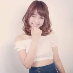 モテ髪 ミディアム 大人かわいい 外国人風 ヘアスタイルや髪型の写真・画像