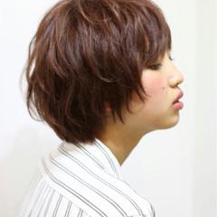 爽やか ゆるふわ おフェロ ショート ヘアスタイルや髪型の写真・画像