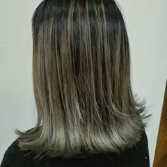 ボブ コントラストハイライト グラデーションカラー エレガント ヘアスタイルや髪型の写真・画像