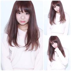 前髪あり ラベンダーピンク フェミニン ピュア ヘアスタイルや髪型の写真・画像