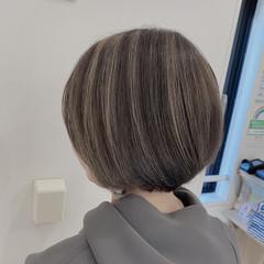 3Dハイライト 大人ハイライト エレガント ブリーチカラー ヘアスタイルや髪型の写真・画像