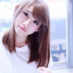 ミディアム モテ髪 大人かわいい ナチュラル ヘアスタイルや髪型の写真・画像
