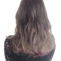 黒髪 グレーアッシュ ストリート グラデーションカラー ヘアスタイルや髪型の写真・画像