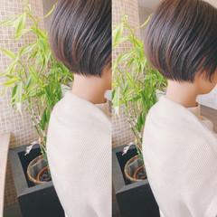 ベリーショート ショートボブ ミニボブ ナチュラル ヘアスタイルや髪型の写真・画像