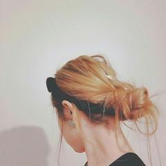 ロング お団子 ヘアアレンジ 外国人風 ヘアスタイルや髪型の写真・画像