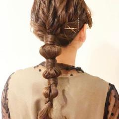結婚式ヘアアレンジ ポニーテールアレンジ ヘアアレンジ ロング ヘアスタイルや髪型の写真・画像
