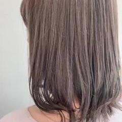 ナチュラル ブリーチなし ミディアム 透明感カラー ヘアスタイルや髪型の写真・画像