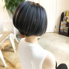 暗髪 ストレート ストリート ボブ ヘアスタイルや髪型の写真・画像