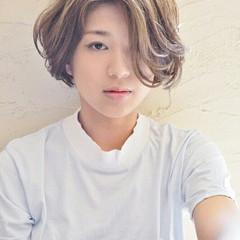 ハイライト アッシュ 外国人風 ショート ヘアスタイルや髪型の写真・画像