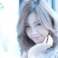 透明感 モテ髪 ミディアム 外国人風 ヘアスタイルや髪型の写真・画像