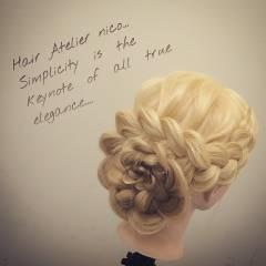 簡単ヘアアレンジ 結婚式 コンサバ 愛され ヘアスタイルや髪型の写真・画像