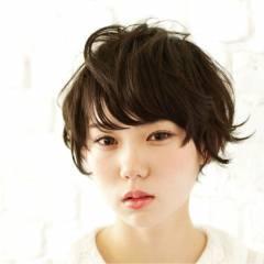 ロング ストリート 暗髪 ショート ヘアスタイルや髪型の写真・画像