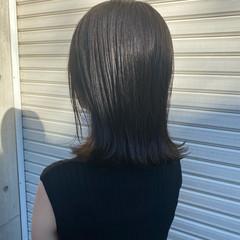 暗髪 ロブ ミディアム ナチュラル ヘアスタイルや髪型の写真・画像