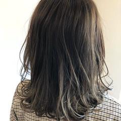 秋 透明感 外国人風カラー セミロング ヘアスタイルや髪型の写真・画像