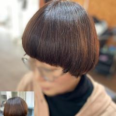 マッシュウルフ モード ショートマッシュ ボブ ヘアスタイルや髪型の写真・画像