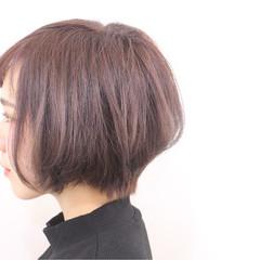 ショート ガーリー 春 ショートボブ ヘアスタイルや髪型の写真・画像