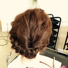 ハーフアップ セミロング ヘアアレンジ ショート ヘアスタイルや髪型の写真・画像