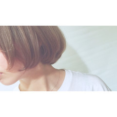 ストリート アッシュ グラデーションカラー ボブ ヘアスタイルや髪型の写真・画像