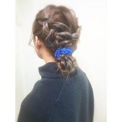 ミディアム お団子 ヘアアレンジ ショート ヘアスタイルや髪型の写真・画像