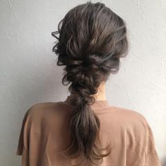 ヘアセット 簡単ヘアアレンジ 結婚式ヘアアレンジ ナチュラル ヘアスタイルや髪型の写真・画像