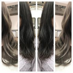 グレージュ 暗髪 ロング ベージュ ヘアスタイルや髪型の写真・画像