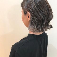 ボブ エレガント 外国人風カラー ラベンダーアッシュ ヘアスタイルや髪型の写真・画像