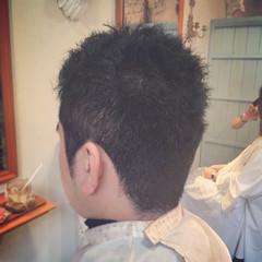 メンズ ショート ストリート 黒髪 ヘアスタイルや髪型の写真・画像