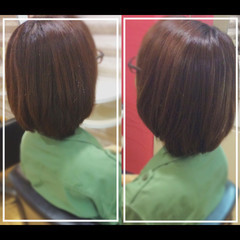 ミディアム 艶髪 大人ヘアスタイル 髪質改善トリートメント ヘアスタイルや髪型の写真・画像