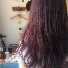 パーマ リラックス 女子会 レッド ヘアスタイルや髪型の写真・画像