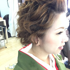 結婚式 ヘアアレンジ デート フェミニン ヘアスタイルや髪型の写真・画像