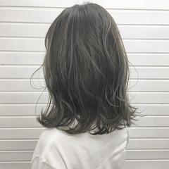 バレイヤージュ ストリート グラデーションカラー ミディアム ヘアスタイルや髪型の写真・画像