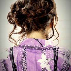 ヘアアレンジ 愛され 花火大会 まとめ髪 ヘアスタイルや髪型の写真・画像