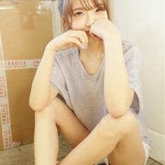 ショート 外国人風 セミロング 簡単ヘアアレンジ ヘアスタイルや髪型の写真・画像