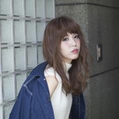 ストリート イルミナカラー 前髪あり デジタルパーマ ヘアスタイルや髪型の写真・画像