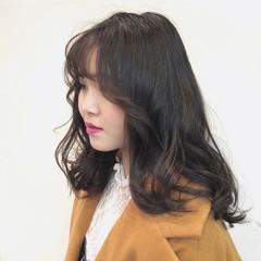 大人かわいい 韓国ヘア ナチュラル ゆるふわ ヘアスタイルや髪型の写真・画像