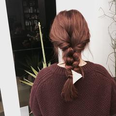 ベリーピンク ナチュラル ロング ヘアアレンジ ヘアスタイルや髪型の写真・画像