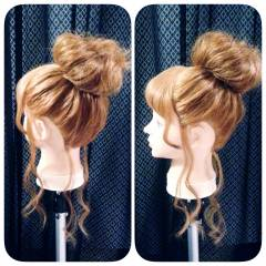 ルーズ ロング アップスタイル ガーリー ヘアスタイルや髪型の写真・画像