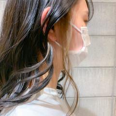 イヤリングカラー インナーカラー イヤリングカラーベージュ ストリート ヘアスタイルや髪型の写真・画像