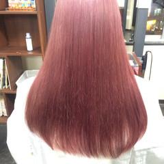 フェミニン ロング パープル ガーリー ヘアスタイルや髪型の写真・画像