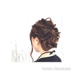 二次会 三つ編み ヘアアレンジ 結婚式 ヘアスタイルや髪型の写真・画像