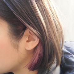 フェミニン ヘアアレンジ ボブ デート ヘアスタイルや髪型の写真・画像