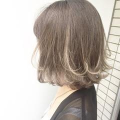 ハイライト 外ハネ 外国人風 フェミニン ヘアスタイルや髪型の写真・画像